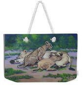 Lioness With Cubs Weekender Tote Bag