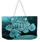 Lionfish On Blue Weekender Tote Bag