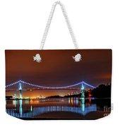 Lions Gate Bridge At Night 2 Weekender Tote Bag