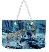 Lions Of The Mist Weekender Tote Bag