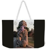 Lions Statue With Ribbon Weekender Tote Bag