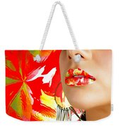 Lips Radiance Weekender Tote Bag