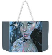 Lipstick And Leather Weekender Tote Bag