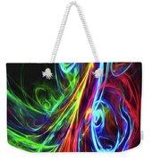 Liquid Neon Weekender Tote Bag