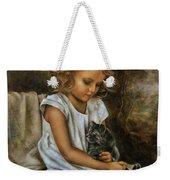 Lisa With A Cat Weekender Tote Bag