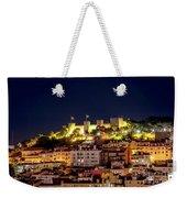 Lisbon Night Background Weekender Tote Bag