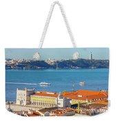 Lisbon Tagus River Skyline Weekender Tote Bag