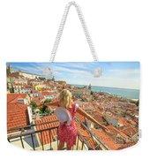Lisbon Tourist Viewpoint Weekender Tote Bag
