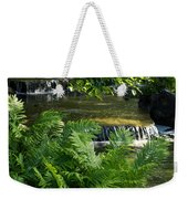 Listen To The Babbling Brook - Green Summer Zen Weekender Tote Bag