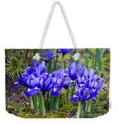 Little Baby Blue Irises Weekender Tote Bag