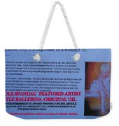 Little Ballerina By Carole Spandau Featured In Award Winning Online Article On Good Posture Mar 2010 Weekender Tote Bag