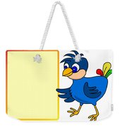 Little Bird With Message Board Weekender Tote Bag