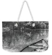 Little Bit Of Heaven Black And White Panorama Weekender Tote Bag