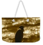Little Blue Heron In Golden Light Weekender Tote Bag