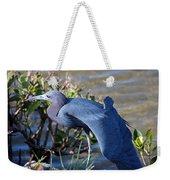 Little Blue Heron Sunbathing Weekender Tote Bag