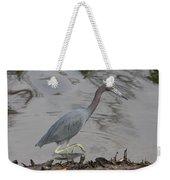 Little Blue Heron Walking Weekender Tote Bag