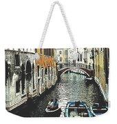 Little Boat In Venice Weekender Tote Bag