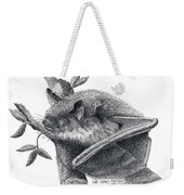 Little Brown Bat Weekender Tote Bag