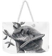 Little Brown Bat Weekender Tote Bag