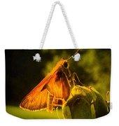Little Brown Skipper Butterfly Weekender Tote Bag