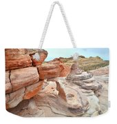 Little Castle Above Wash 3 In Valley Of Fire Weekender Tote Bag