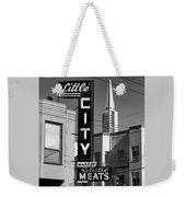Little City Market North Beach San Francisco Bw Weekender Tote Bag