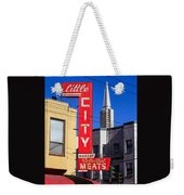 Little City Sign North Beach Weekender Tote Bag