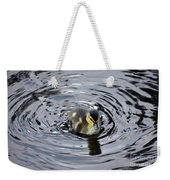 Little Duckling Goes For A Swim Weekender Tote Bag