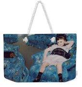 Little Girl In A Blue Armchair Weekender Tote Bag by Mary Stevenson Cassatt