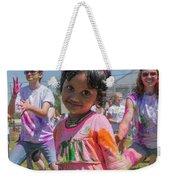 Little Girl Smiles Weekender Tote Bag