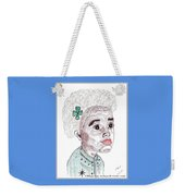 Little Girl With A Green Bow Weekender Tote Bag