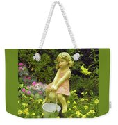Little Girl With Pail Weekender Tote Bag