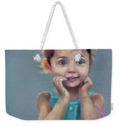 Little Girl With Purse Weekender Tote Bag