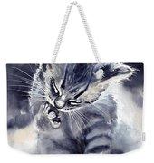 Little Grey Cat Weekender Tote Bag
