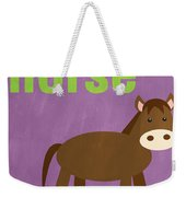 Little Horse Weekender Tote Bag by Linda Woods
