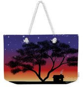 Little House At Sunset Weekender Tote Bag