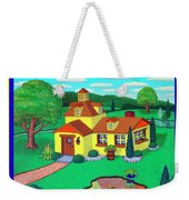 Little House On The Green Weekender Tote Bag by Snake Jagger
