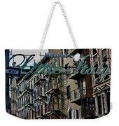 Little Italy In New York Weekender Tote Bag