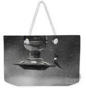 Little Male Hummingbird In Charcoal Weekender Tote Bag