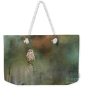 Little Owl On A Fence Weekender Tote Bag