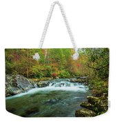 Little Pigeon River Flows In Autumn In The Smoky Mountains Weekender Tote Bag