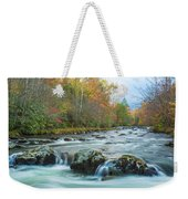 Little Pigeon River Great Smoky Mountains National Park In Fall Weekender Tote Bag