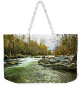 Little Pigeon River Greenbrier Area Of Smoky Mountains Weekender Tote Bag