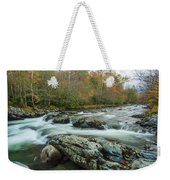 Little Pigeon River In Autumn In Smoky Mountains In Autumn Weekender Tote Bag