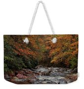 Little Pigeon River In Autumn Weekender Tote Bag