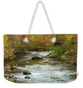Little Pigeon River In Fall Smoky Mountains National Park Weekender Tote Bag
