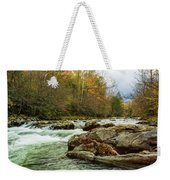 Little Pigeon River In The Greenbrier Section Of Smoky Mountains Weekender Tote Bag