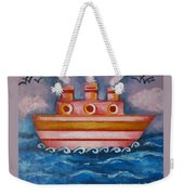 Little Pink Ship Weekender Tote Bag