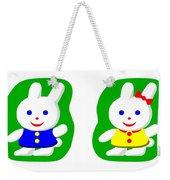 Little Rabbit Boy And Rabbit Girl Weekender Tote Bag