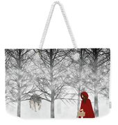 Little Red Weekender Tote Bag